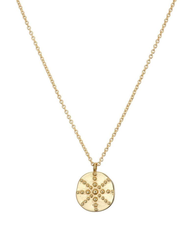 Mary K Gold Token Necklace