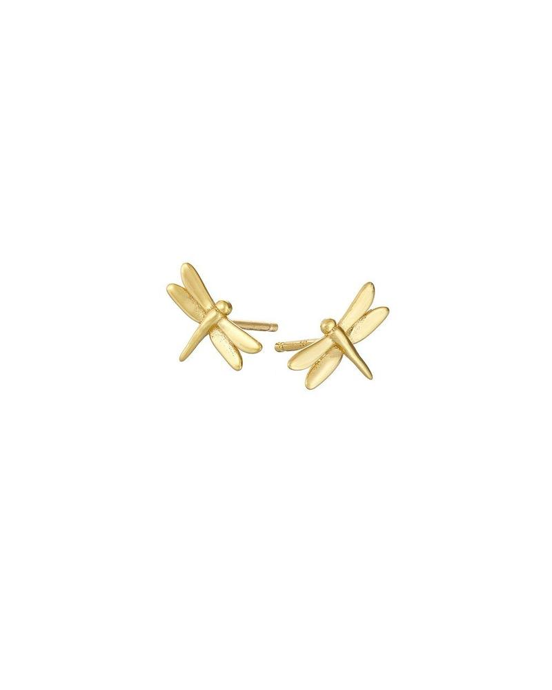 Gold Dragon Fly Stud Earrings Mary K