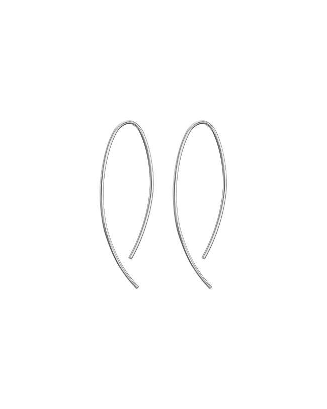 Silver Small Fine Curve Mary K Earrings