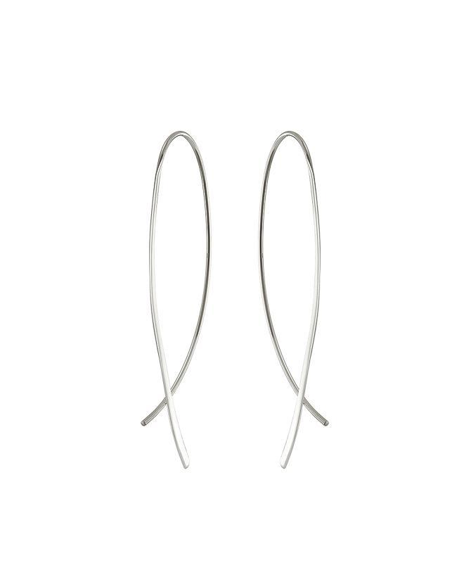 Silver Crossover Earrings Mary K