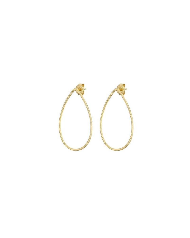 Gold Front Facing Teardrop Earring Mary K