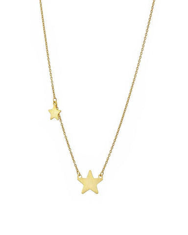 Gold Double Star Necklace Mary K