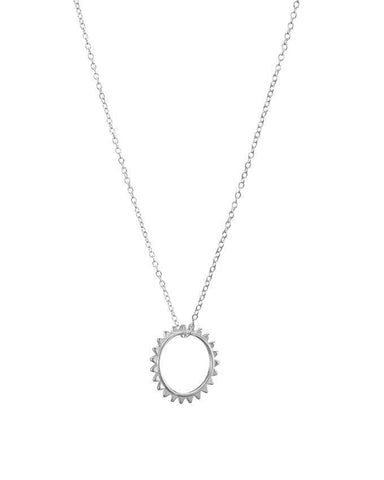 Mary K Silver Sun Necklace