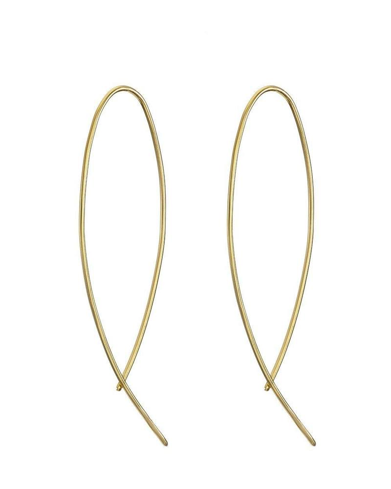 Gold Fine Curve Earring Mary k