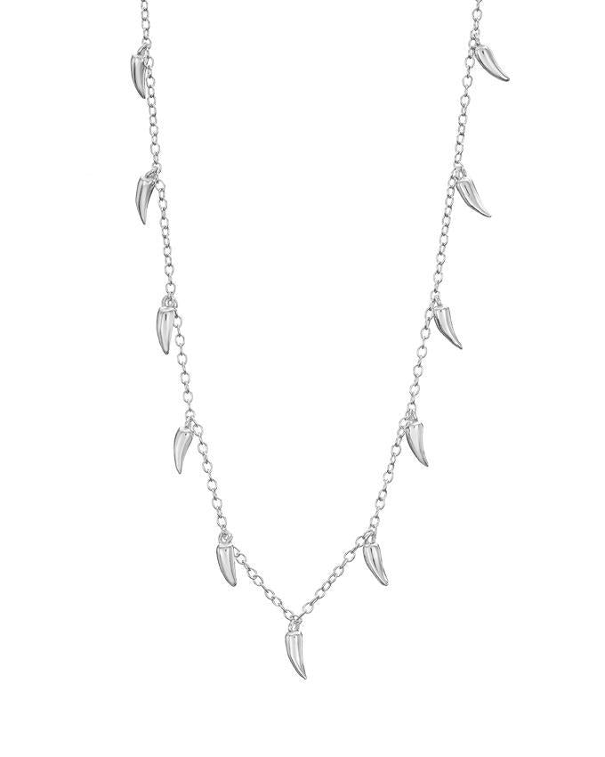 Mary K Silver Chilli Pod Necklace