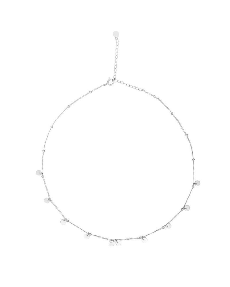 Silver Disc Choker Mary K