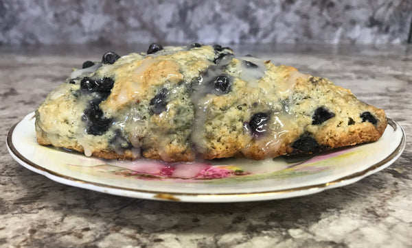 Recipe: Lavender & Blueberry Scones with Lemon Glaze