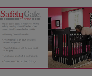 Baby's Dream Safety Gate Crib is not only stylish, it will keep your baby secure as well.
