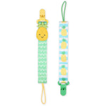 2 Piece Pacifier Holder Set - Pineapple