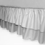 Crib Skirt - Double Ruffle Gray