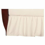 Brixy Percale Bed Skirt - Solid Ecru