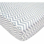 Brixy Chenille Crib Sheet - Grey ZigZag