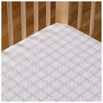 Lolli Living Fitted Crib Sheet - Grey Links