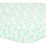 The Peanut Shell Crib Sheet - Teal Herringbone
