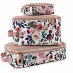 Travel Diaper Bag Packing Cubes - Blush Floral