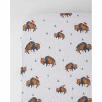 Little Unicorn Muslin Crib Sheet - Bison - Kid's Stuff Superstore