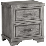 Foundry 2 Drawer Nightstand - Brushed Pewter