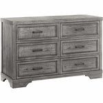 Foundry 6 Drawer Dresser - Brushed Pewter - Kid's Stuff Superstore