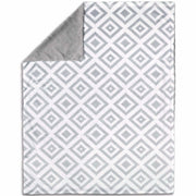 The Peanut Shell Blanket - Gray Tile Velour - Kid's Stuff Superstore
