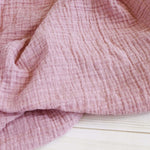 The Sugar House Muslin Swaddle Blanket - Blush Pink