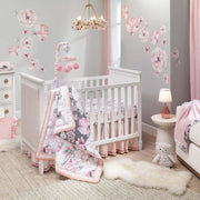 Lambs & Ivy 4-Piece Crib Bedding Set - Botanical Baby Floral - Kid's Stuff Superstore