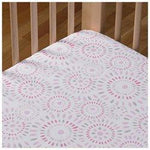Lolli Living Fitted Crib Sheet - Pink Confetti