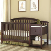 Morgan Crib w/ Attached Changer - Kid's Stuff Superstore