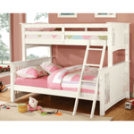 Creek 2 Twin/Full Mission Bunkbed - White
