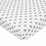 Brixy Percale Crib Sheet - White with Gray Dots