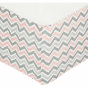 "Brixy Bed Skirt 14"" - Zig Zag Pink - Kid's Stuff Superstore"