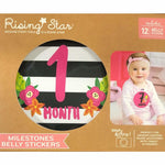Milestone Belly Stickers - Flowers