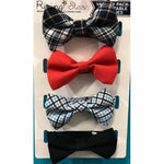 4 Pack Bow Ties, Blue - Kid's Stuff Superstore