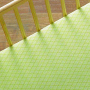 Lolli Living Fitted Crib Sheet - Green Diamond - Kid's Stuff Superstore