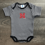 Bodysuit, Nebraska Black Stripe 3-6mos