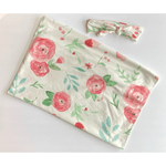 Floral Swaddle w/ Headband