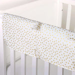 Gold Dot Crib Rail Cover