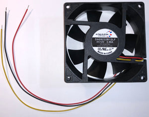 Qty 10 - DC Axial Fan 12V 0.9A 92CFM 49dBA 92x92x32mm 49dBA
