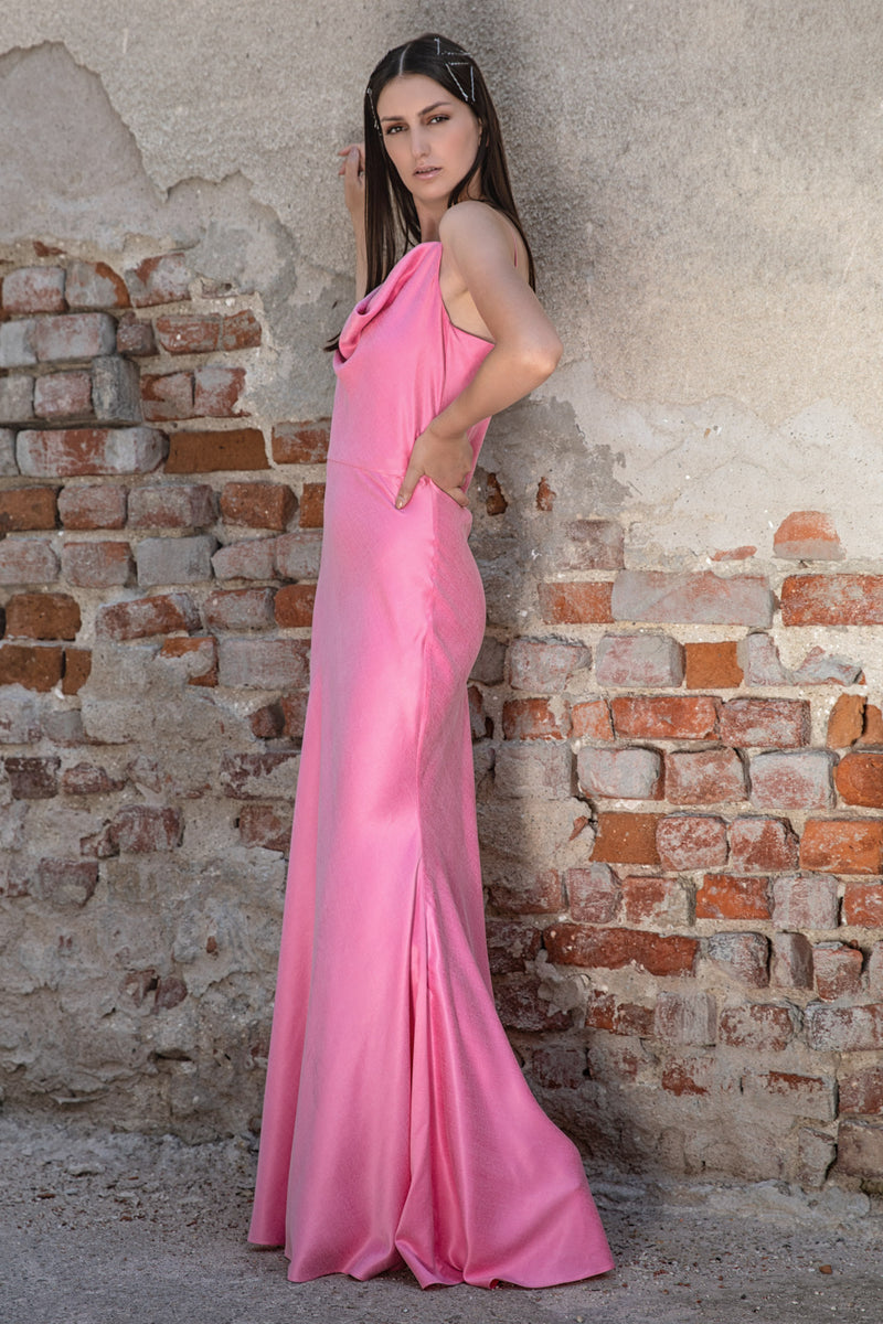 Rochie lunga, baby-pink