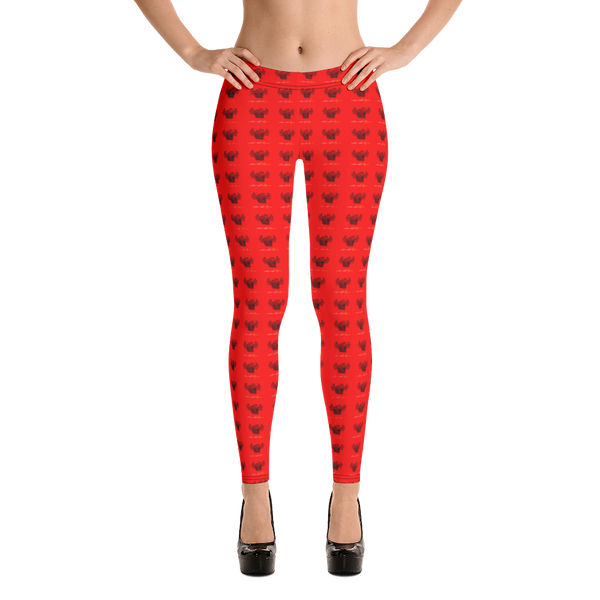 Novv St. Rivver Taxi Heart Leggings (Red)