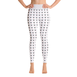 Novv St. Rivver Taxi Heart Yoga Leggings (White)