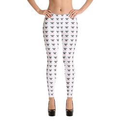 Novv St. Rivver Taxi Heart Leggings (White)