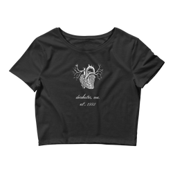 Novv St. Rivver Dark Heart Crop Top (Black)