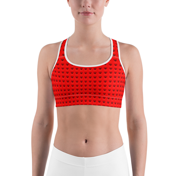 Novv St. Rivver Taxi Heart Sports bra (Red)