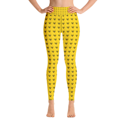 Novv St. Rivver Taxi Heart Yoga Leggings (Yellow)