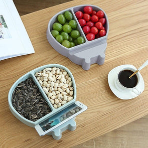 Double Layer Snack Bowl with Phone Holder