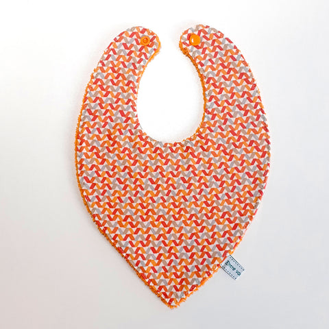 Bavoir bandana - Triangles orange / Orange