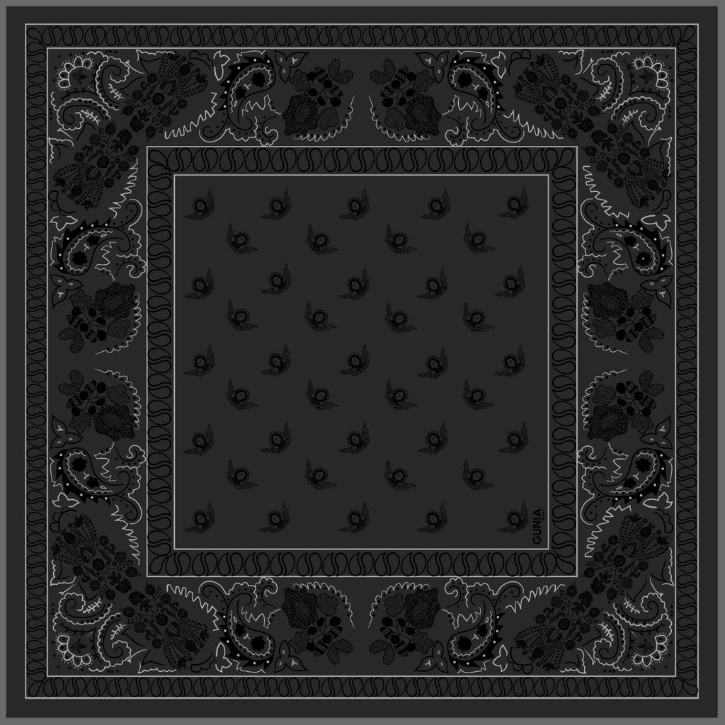 Silk black bandana