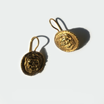 Gold Lion Earings