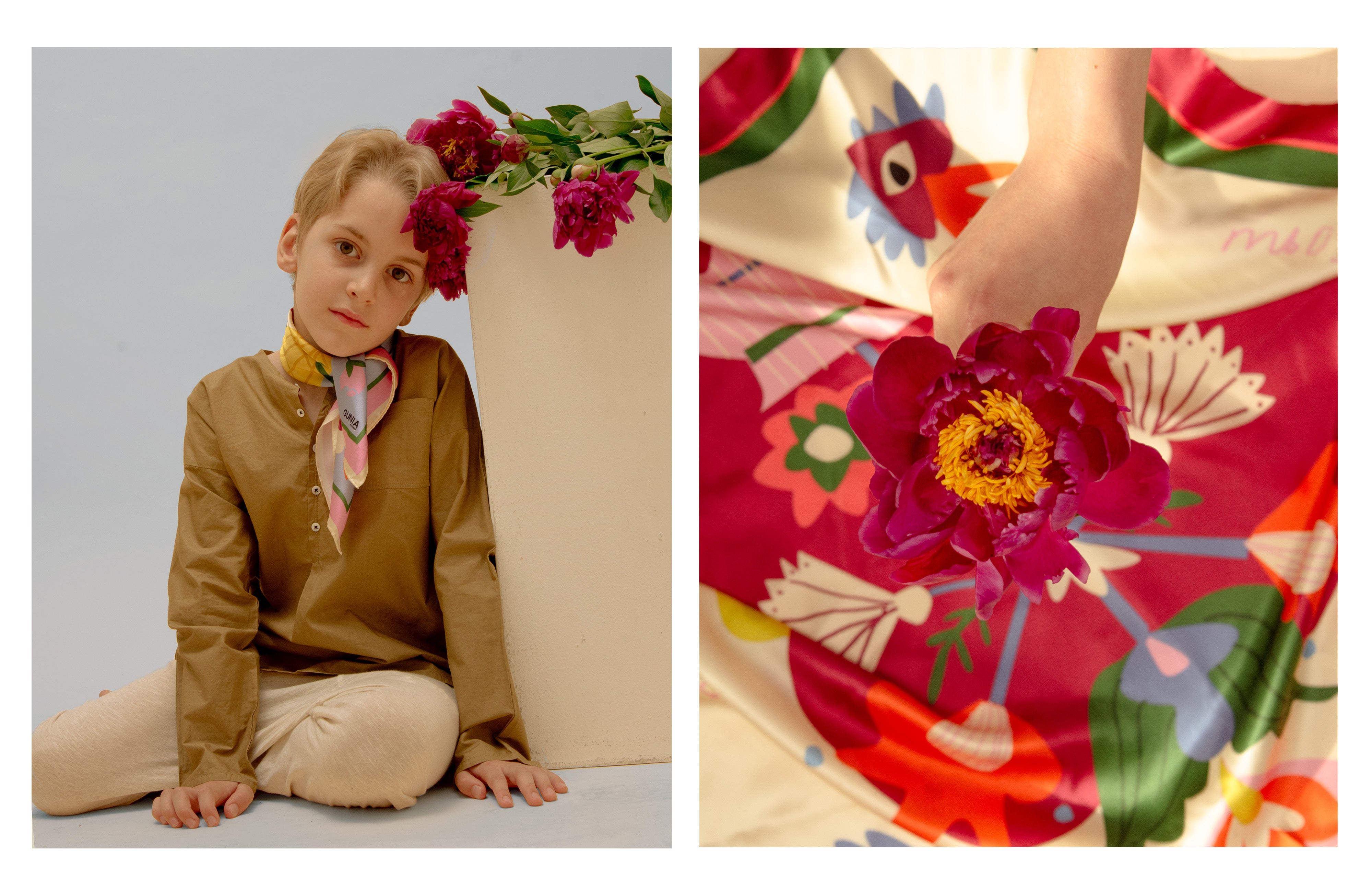 Silk headscarf for the International Children's Day