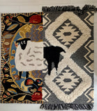Hand-made woven carpet with the image of the sheep